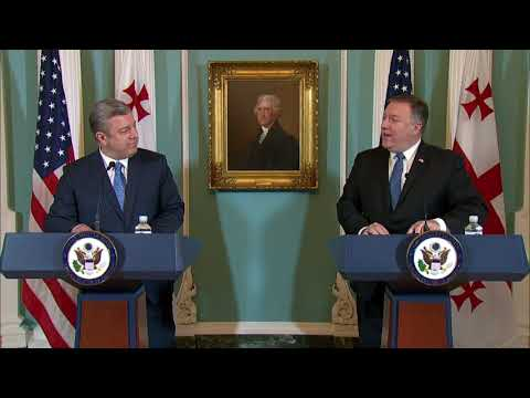 Secretary Pompeo Delivers Remarks with Georgian Prime Minister