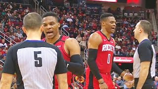 Russell Westbrook Disrespected By Ref & Can't Believe Worst Technical Foul! Rockets vs Grizzlies