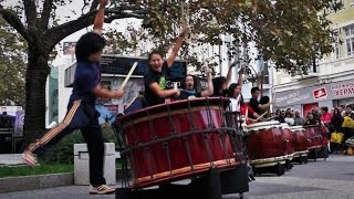 Yamato - The Drummers of Japan - Live Street Performance - Taiko Drums - Plovdiv Bulgaria