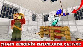 HIRSIZ VS POLİS #18 - Çılgın Zenginin Elmaslarını Çalıyor (Minecraft)