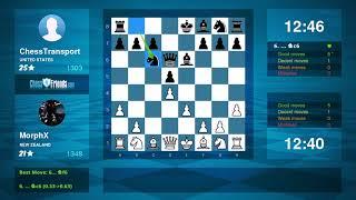 Chess Game Analysis: MorphX - ChessTransport : 1-0 (By ChessFriends.com)
