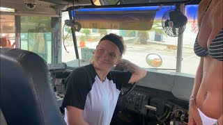Teenage (18yr old) Mallie gets her 1st bus!