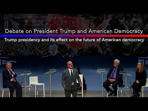 Debate on President Trump & American Democracy Newt Gingrich, Kimberly Strassel vs Andrew Sullivan