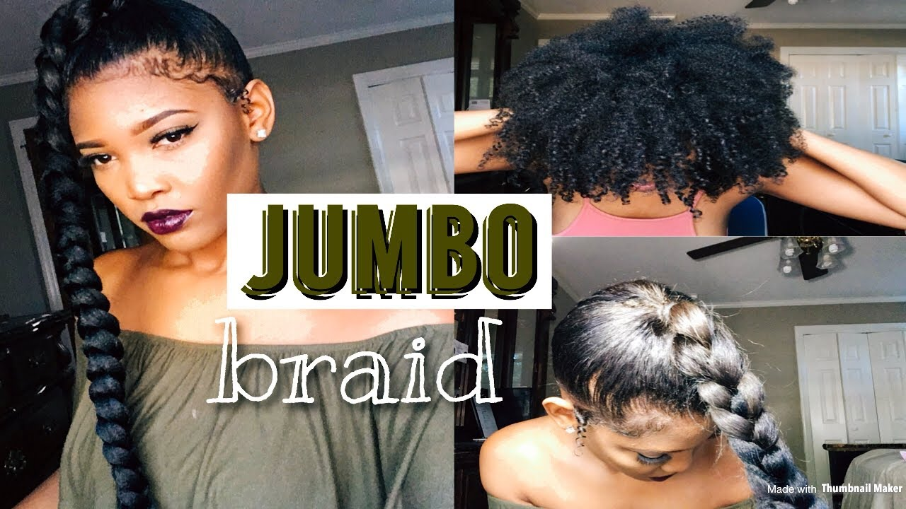 Most Natural Jumbo Braid Ponytail On Natural Hair London Tayy Youtube