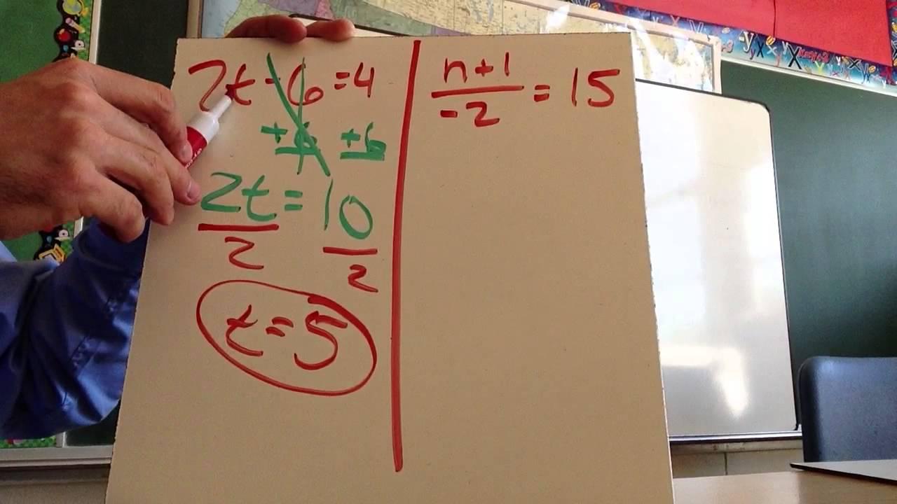 medium resolution of 2-3: Solving Multi-Step Equations (8th Grade) - YouTube