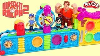 Disney Wreck It Ralph & Friends Visit the Magic Play Doh Mega Fun Factory Playset!