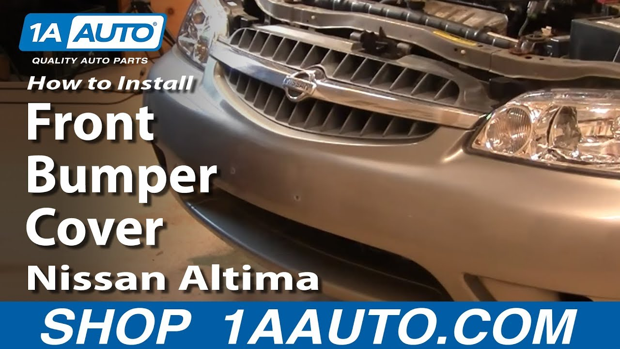 How To Install Replace Remove Front Bumper Cover Nissan Altima 00 01