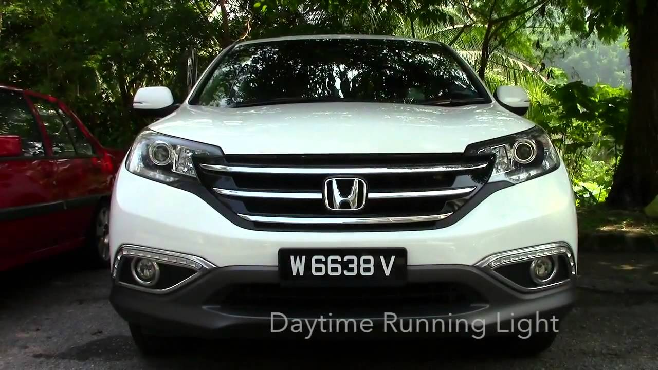 honda crv 2013 2015 3 in 1 led day time running light drl signal auto on fog lamp cover [ 1280 x 720 Pixel ]