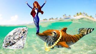 Барби и волшебные дельфины Игры с Барби спасает дельфинов Гавайи #Малинки DOLL