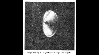 UFO aus Flugzeug fotografiert (04.09.1971 Lago de Cote, Costa Rica)