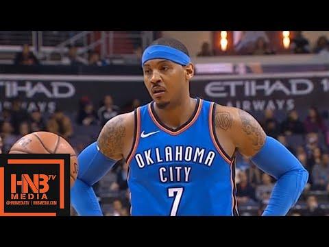 Oklahoma City Thunder vs Washington Wizards 1st Half Highlights / Jan 30 / 2017-18 NBA Season