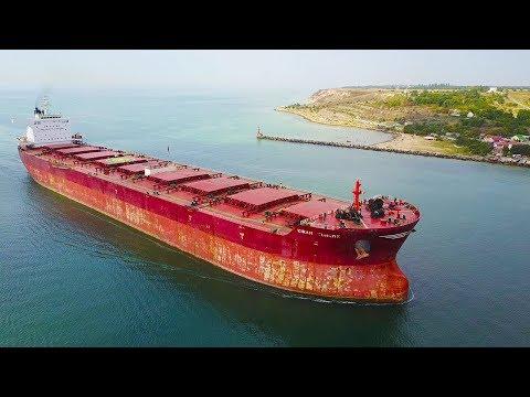 Biggest Bulk Carrir Ships - Port Entrance