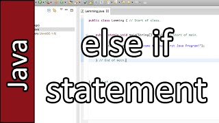 else if Statement - Java Programming Tutorial #19 (PC / Mac 2015)