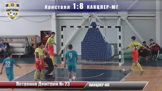 """Футбол """"Кристалл"""" 4:12 """"КАНЦЛЕР-ЮГ"""" - Голы"""