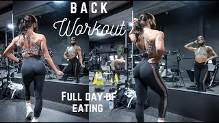 BACK WORKOUT | FULL DAY OF EATING | 8 weeks out