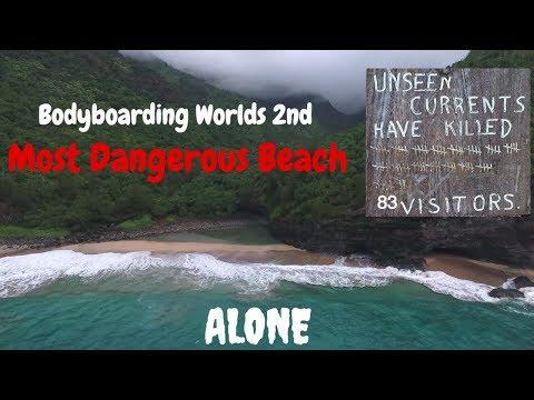 BODYBOARDING Worlds 2nd Most DANGEROUS BEACH----Hanakapiai--- 2 MILE HIKE IN----83 LIVES TAKEN -