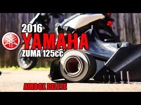 2016 Yamaha Zuma 125 AIRBOX DELETE #Zuma #YamahaZuma #SmallEngineVelocity