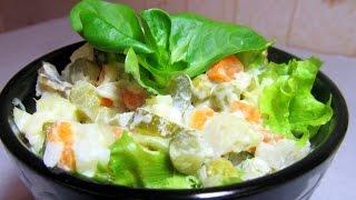 Салат с рыбой треской горячего копчения