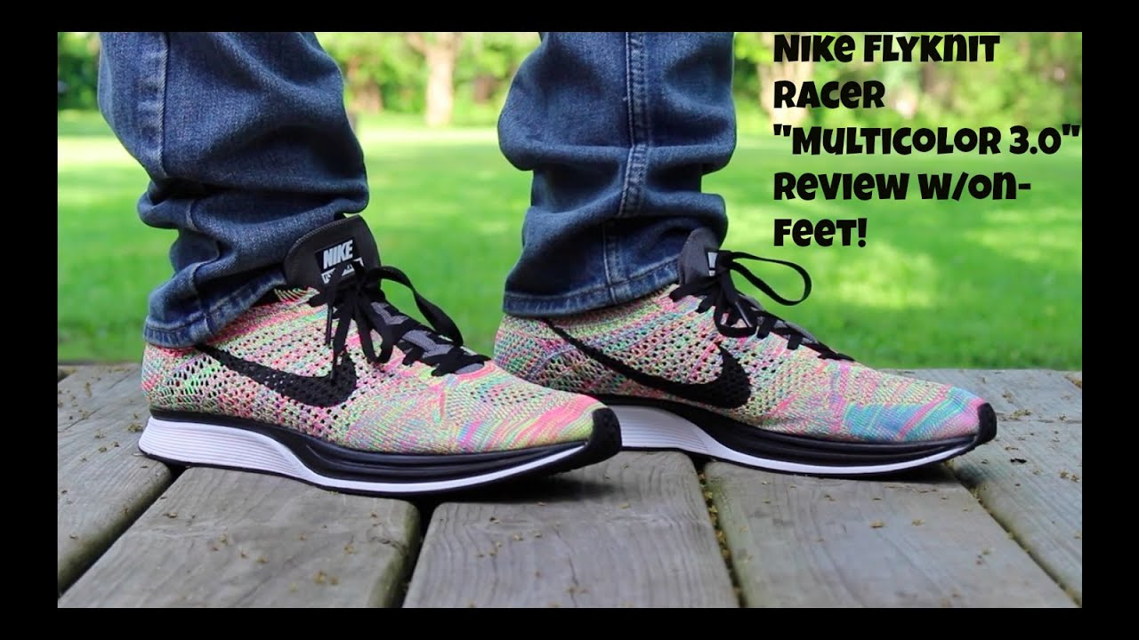 Flyknit Racer Multicolor On Feet