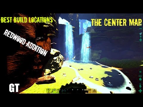 THE CENTER MAP REDWOODS - Best Areas to Build- ARK: Survival Evolved