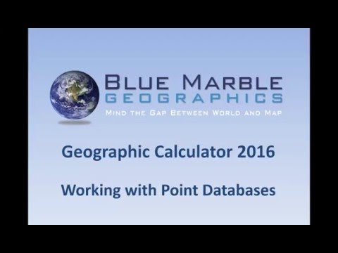 Geographic Calculator 2016 - Working with Point Databases