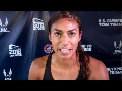 Brenda Martinez Talks about Doubling at 800/1500 at 2012 Olympic Track and Field Trials