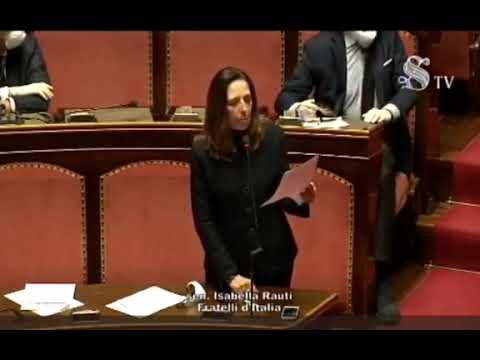 FdI Parlamento  - L'intervento della Sen. Rauti sull'informativa del Presidente Conte