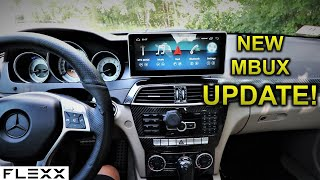Updated my android screen to the new MBUX software on my Mercedes C250 C300 W204