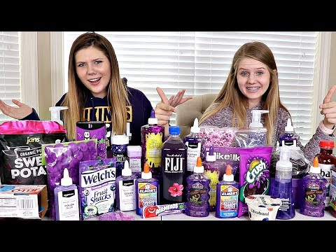 Purple Slime vs Purple Food Switch Up Challenge | Sis vs Sis