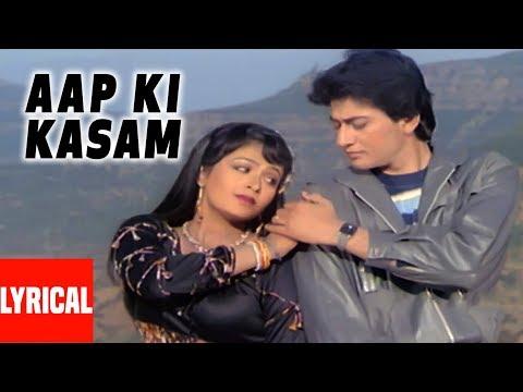 Aap Ki Kasam Lyrical Video | Pyar Ho Gaya | Shabbir Kumar, Alka Yagnik | Avinash Wadhawan