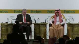 Prince Alwaleed Bin Talal Speaks at Forbes CEO Conference with Steve Forbes in Dubai