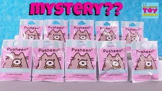 Pusheen Mystery Pins Series 1 Collector Blind Bag Pack Opening | PSToyReviews