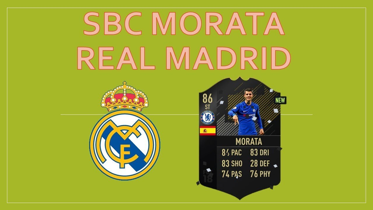 Football Hd Wespeakfootball: SBC MORATA REAL MADRID // FUT PACK