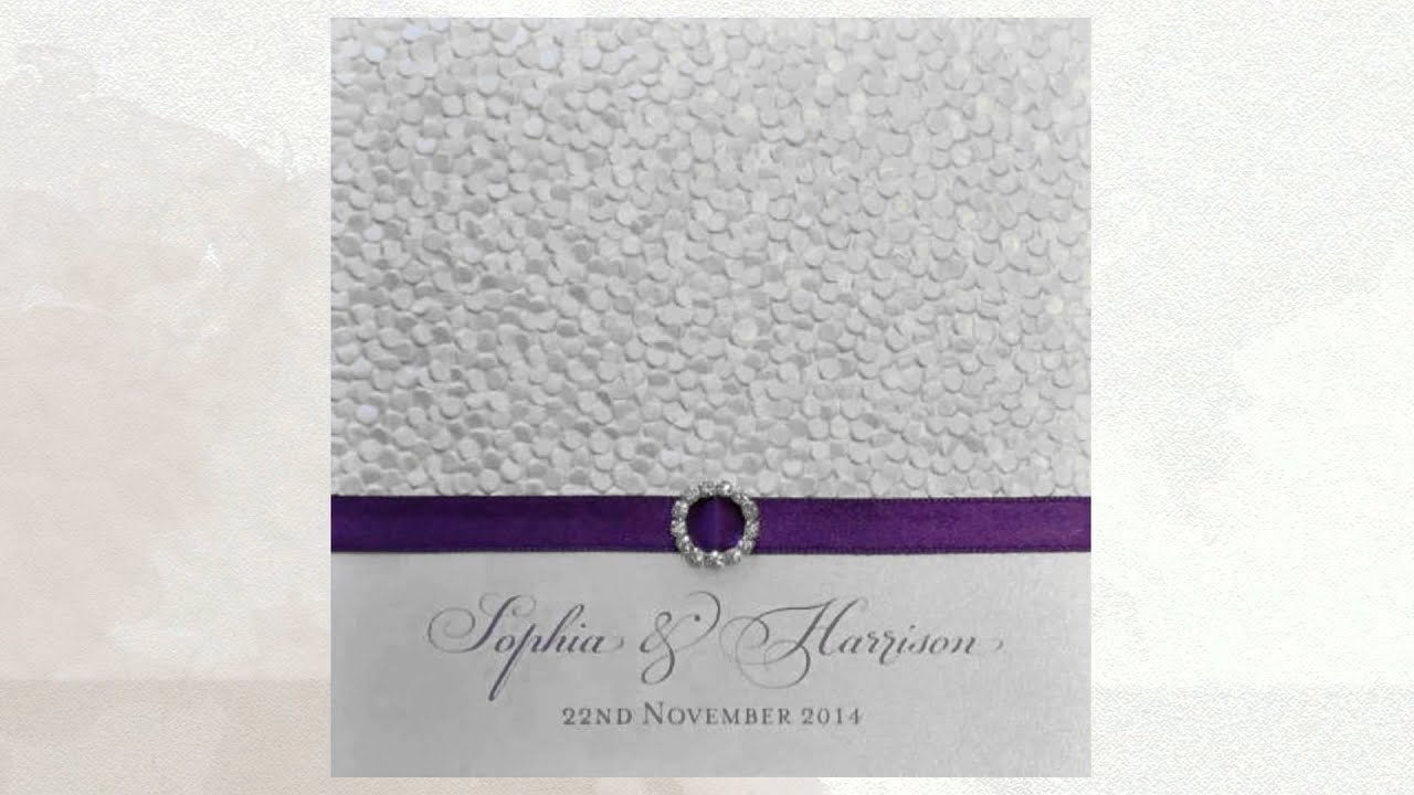 Purple Wedding Invitations - YouTube