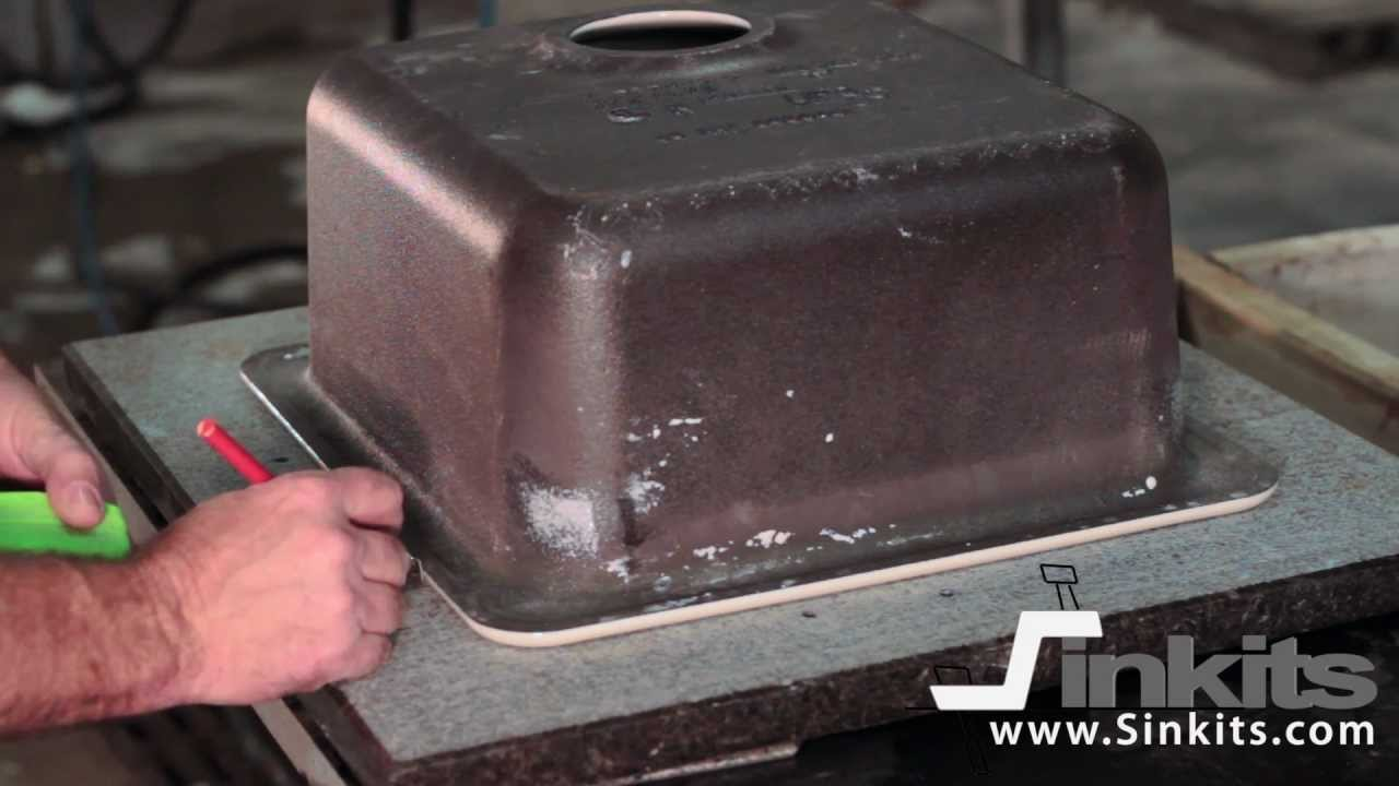Undermount Bathroom Sink Supports sinkits, how to undermount a sink in granite or quartz. - youtube