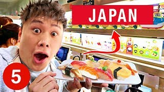 5 THINGS TO DO IN JAPAN: Conveyor Belt Sushi, Shibuya Crossing, Takeshita Street, Meiji Shrine