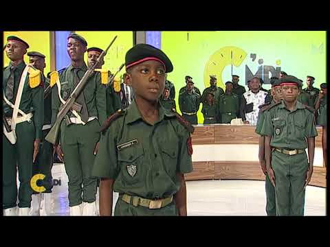 Section Drapeau Avec Les élèves Officiers De L'EMPT