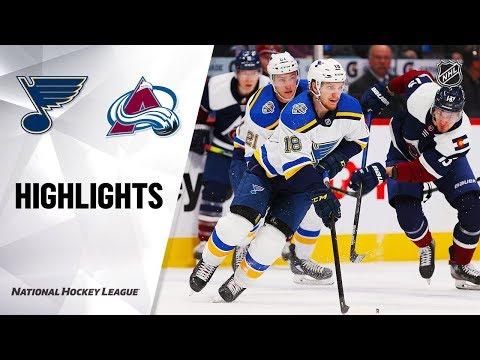 NHL Highlights   Blues @ Avalanche 1/2/20