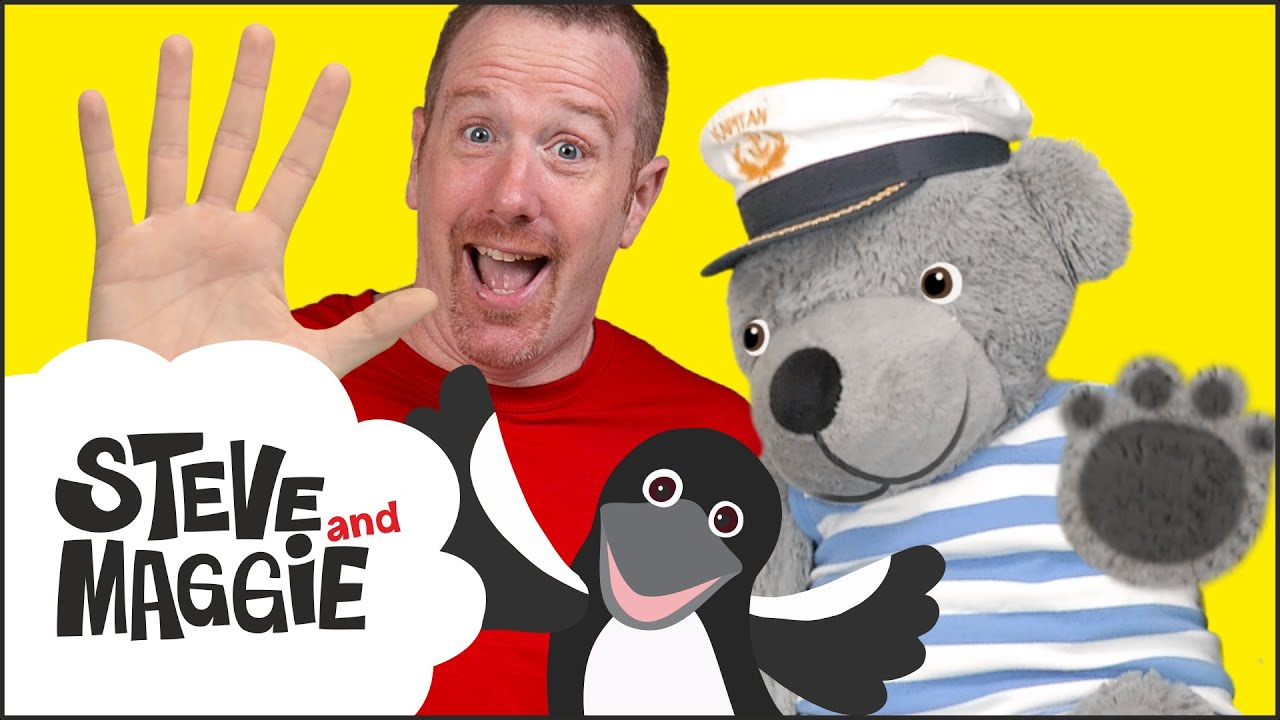 Finger Family Ice Cream, Teddy Bear and Halloween from Steve and Maggie | Wow English TV
