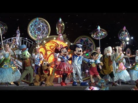 "TDS 最終日夜回「クリスタルウィッシュジャーニー~シャインオン」ディズニー ""Crystal Wish Journey-Shine On"" on final day @DisneySea"