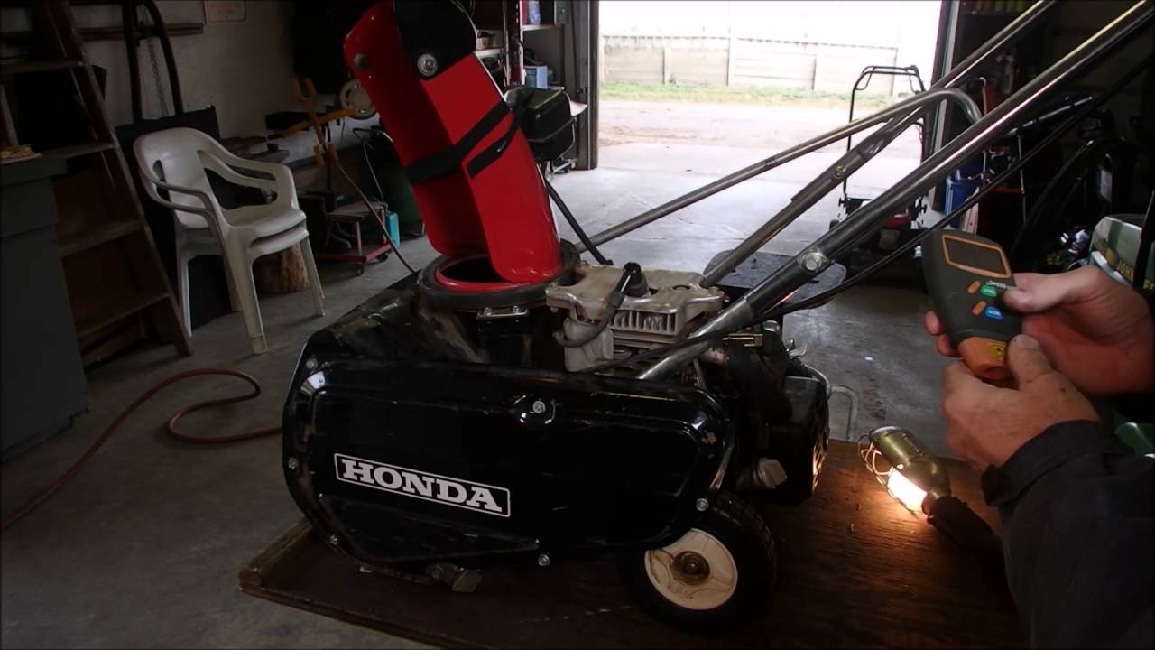 Governor Adjustment on a Honda HS35 Pt 2  YouTube