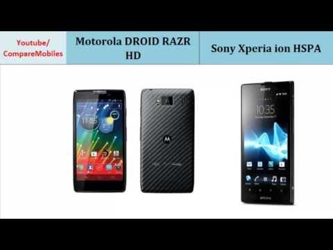 Motorola DROID RAZR HD VS Sony Xperia ion HSPA, Quick Comparison