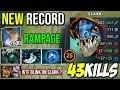 NEW RECORD!!! WTF +500Agi Steal Monster Slark 43Kills RAMPAGE With Blink Dagger By Kingrd Dota 2