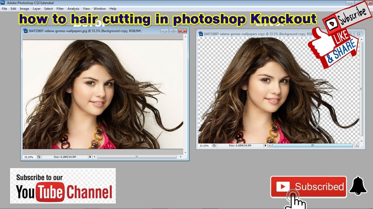 photoshop cs11 tutorial knockout in hindi ll how to hair cutting in