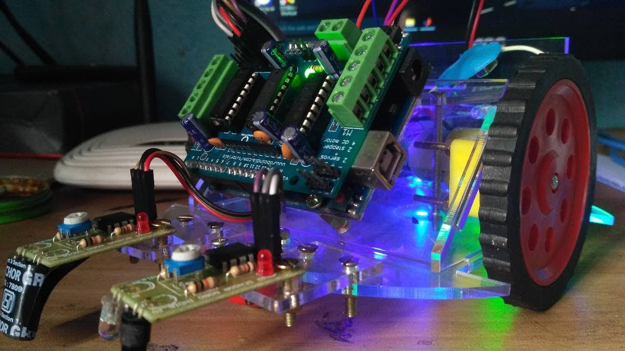 Line following robot with arduino and motor shield