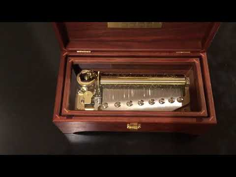 "Sankyo (like Reuge) 3 Song 72 Note Music Box, Plays ""Canon In D"" 3 Parts Pachelbel"
