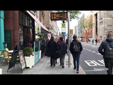 A walk to Dublin City Centre, Ireland - Nov 2017