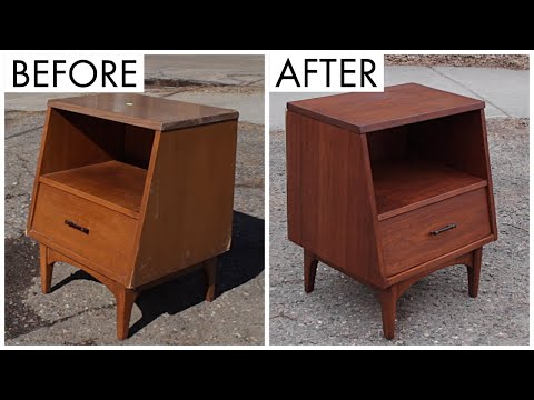 Thrift Store Rescue #15 | Mid Century Table Restoration | Furniture Refinishing