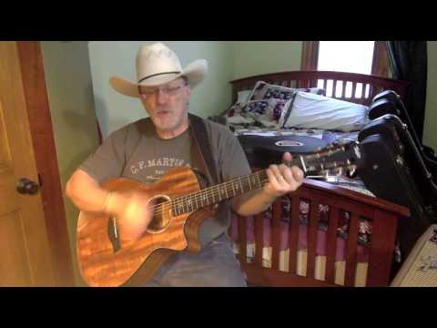 1748 -  Guitar Town -  Steve Earle vocal & acoustic guitar cover with chords