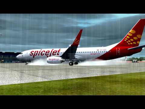 FSx - Spicejet landing at Ahmedabad Airport